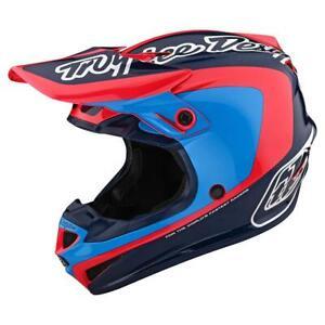 Troy Lee Designs SE4 Polyacrylite MIPS Helmet YOUTH CORSA - Navy / Cyan