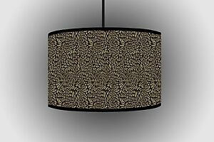 30cm Leopard Skin Twisted Brown Lampshade For Light Bedrooms Ceiling Lampshade