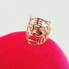 Gold or Silver Hollowed Out Tiger Ring Size 6