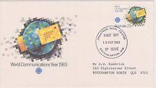 (K8-83) 1983 AU FDC 27c world communications year