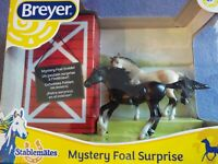 Breyer Stablemate MYSTERY FOAL 3 pc Set Running Mare, Andalusian Stallion, +foal
