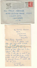 England 1951 cover & letter Frank Ogden Whitchurch to Mgm Metro Goldwyn Mayer Ca
