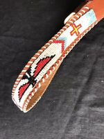 Vintage Beaded Western Belt - Youth Small