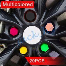 20pcs Silicone Auto Wheel Hub Screw Cap Tyre Bolt Nut Cover Protect Trim 19mm
