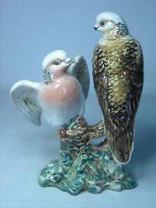 1945-1970 Beswick TURTLE DOVES Bird Figurine A/F Beak on Tall Dove 1022