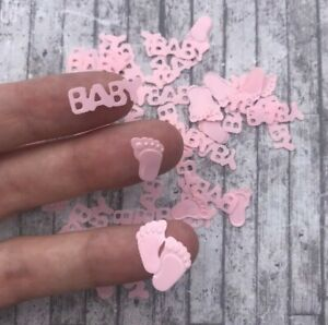 Pink Baby Shower Table Confetti Party Girl 40 Pcs Decorations Sprinkles Craft UK