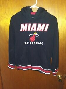 UNK NBA Mens Poly Fleece Hooded Sweatshirt Miami Heat Youth Large Hoodie