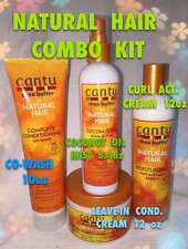 CANTU SHEA BUTTER NATURAL HAIR COMBO KIT COMES 4 FULL SIZES OF PRODUCTS