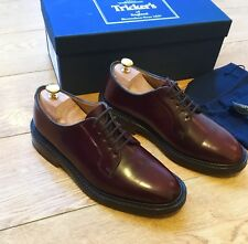 Boxed Trickers X Frans Boone Store Burgundy Shell Cordovan Derby Shoe