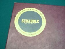 1953 SCRABBLE GAME WITH ADDITIONAL BOARD COMPLETE
