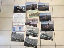 Lot de 13 illustrations images Nautique navire Guerre TBE