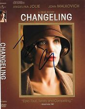 """ANGELINA JOLIE - HAND SIGNED """"CHANGELING"""" DVD COVER AUTOGRAPHED AUTO w/ COA"""