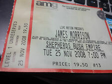 James Morrison ticket, Shepherds Bush Empire, London, November 2008