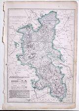 1864 large antique map ~ Buckinghamshire Newport pagnel Olney Winslow Aylesbury