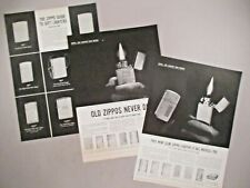 Zippo Cigarette Lighter PRINT AD - 1959 - LOT of 3 Ads