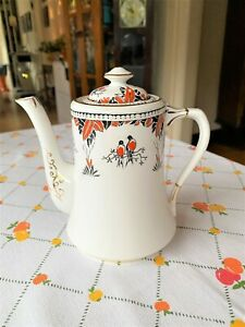 Extremely Scarce 1920s Royal Albert Love Birds Coffee Pot S11