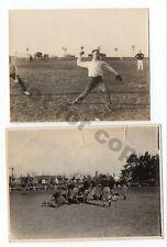 X-RARE AMERICAN FOOTBALL & BASEBALL CA1900 PHOTOS EXHIBITION IN URUGUAY
