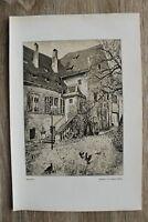 Kunst Druck 1 Blatt 1905/06 Herrenhof nach Gemälde von August Kühles Architektur