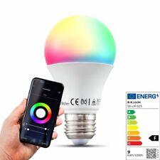 LED Smart Leuchtmittel WiFi Lampe dimmbar RGB CCT Birne E27 Alexa Google 9W
