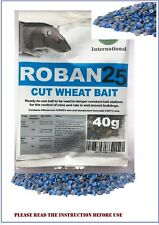 Rat Poison fast killer Max Strength professional Roban25 cut wheat bait