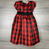 Marmellata Classics Holiday Black Red Plaid Girl Dress Sz 2T Formal Party