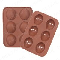 Shell Silicone Mould +6 CELL+ Ice Cubes Jelly Sugarcraft Chocolate Cakes Candy