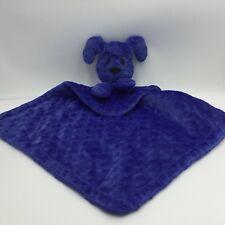 Piccolo Bambino Royal Blue Puppy Dog Minky Security Baby Blanket Lovey
