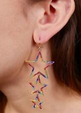 Triple Star Dangle Earring Multi Color Accessories