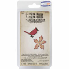 """TIM HOLTZ SIZZIX """"MINI CARDINAL & POINSETTIA"""" MOVERS & SHAPERS DIE 658266 - NEW"""
