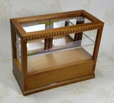 Miniature Dollhouse Walnut Display Case 1:12 Scale New