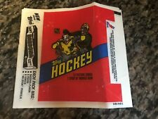 1981/82 TOPPS NHL HOCKEY WAX PACK WRAPPER SOFT BAZOOKA GUM VERSION