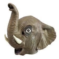 Hommes Éléphant par la Tête Masque Africain Indien Jungle Animal Coffre Défenses