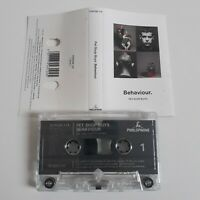 PET SHOP BOYS BEHAVIOUR CASSETTE TAPE EMI PARLOPHONE UK 1990