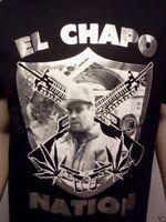 EL CHAPO NATION EL CHAPO GUZMAN T-SHIRT FREE SHIPPING SIZE SM MED LG XL 2X