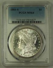 1881-S US Morgan Silver Dollar $1 Coin PCGS MS-64 (I) 12