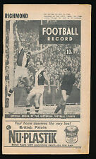 1966 VFL Football Record Richmond v Carlton July 16 Tigers Blues