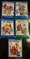 Lot of 5 Mattel Intellivision Video Games Cartridges w/ Boxes And Manuals