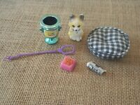 Vintage Kenner Littlest Pet Shop Clever Collie with Puppy Pillow Complete Set