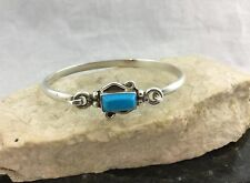 Southwest Style Turquoise Bangle Bracelet Vintage Mexico 925 Sterling Silver
