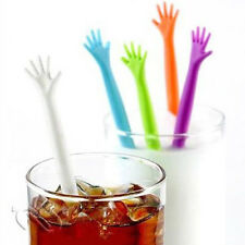 5pcs HELP ME Hand Drink Stirrers Bar/Party/Kitchen Cocktail Swizzle Stick SET