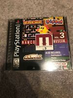 Namco Museum Vol. 3 (Sony PlayStation 1, 1996) Complete And Scratch Free