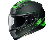 Shoei Motorradhelm NXR Flagger TC-4 matt matt-schwarz-grau-grün Gr.: M