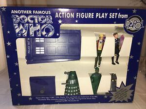 Doctor Who 7th Dr With Green Dalek Companion Tardis DAPOL Figure Gift Set 1990s