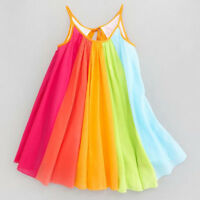 Toddler Kids Baby Princess Dress Sleeveless Chiffon Tutu Casual Loose Dress P