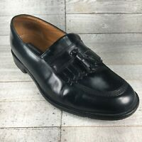 Mens Bostonian Black Leather Kiltie Tassel Slip-On Loafers Shoes Size 9.5 W