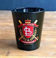St. Louis Cardinals Black Shot Glass 1993 MLB 125th Anniversary Libbey Glass G13