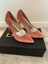 NIB Bebe Size 7 M ABBYY Pink Velvet Heels Pumps Shoes