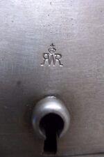 ANTIQUE VINTAGE DOOR LOCK SAFE STORAGE OFFICE TOILET BATHROOM LOGO RWR CROWN