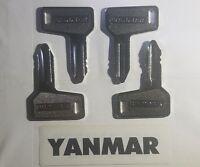 (4) Yanmar Key  Takeuchi Key Heavy Equipment Keys Excavator VERY FAST SHIPPING
