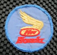 "HONDA EMBROIDERED SEW ON PATCH MOTORCYCLE GOLD WINGS ADVERTISING LOGO 3"" round"